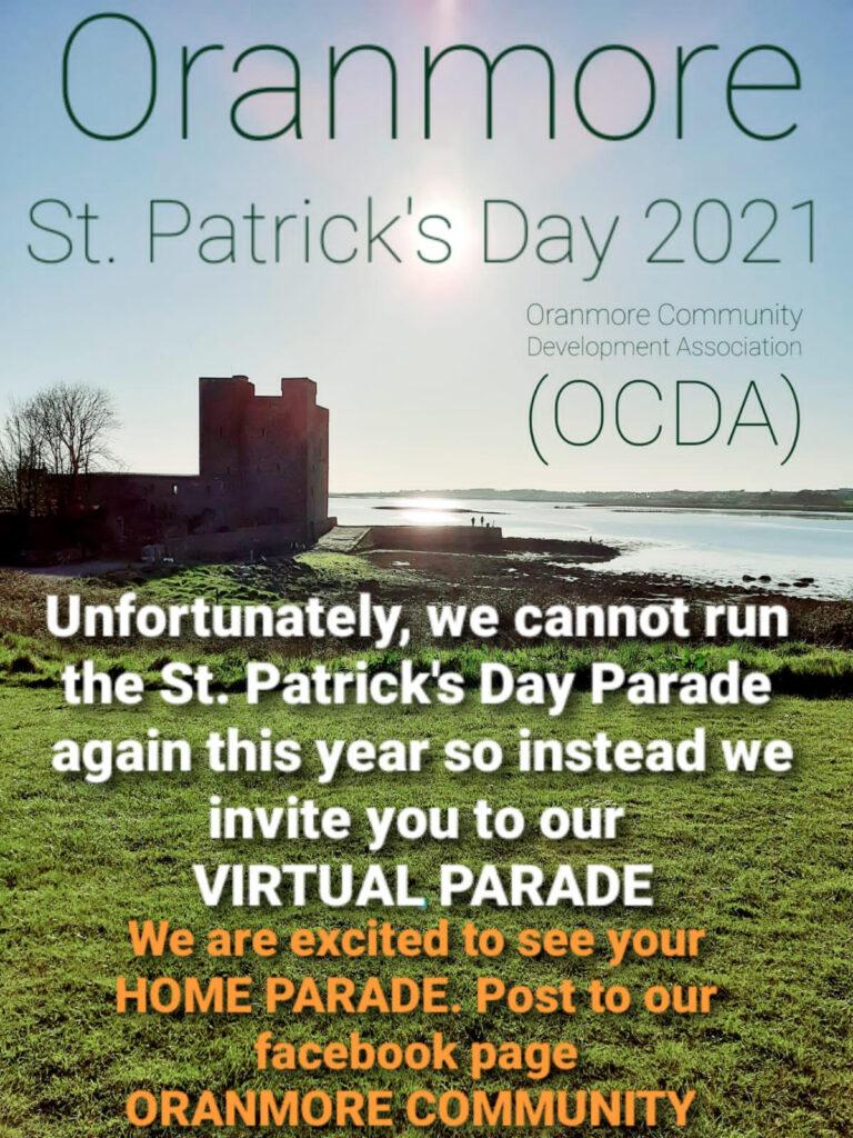 Oranmore's Virtual St. Patrick's Day Parade